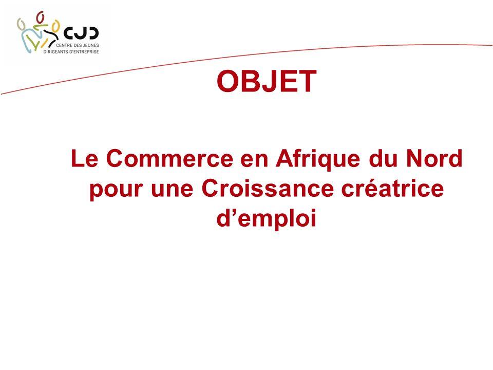 OBJET Le Commerce en Afrique du Nord pour une Croissance créatrice demploi