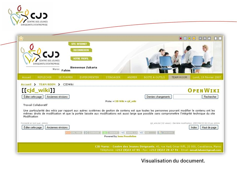 Visualisation du document.