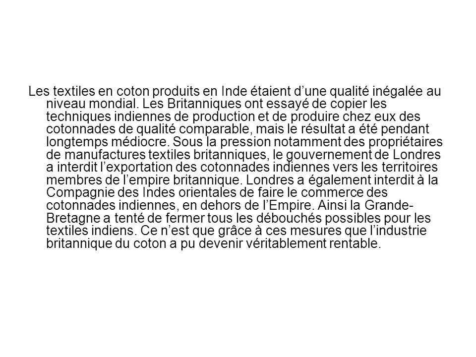 F.Braudel Le coton fut travaillé en Europe dès le XIIe siècle.