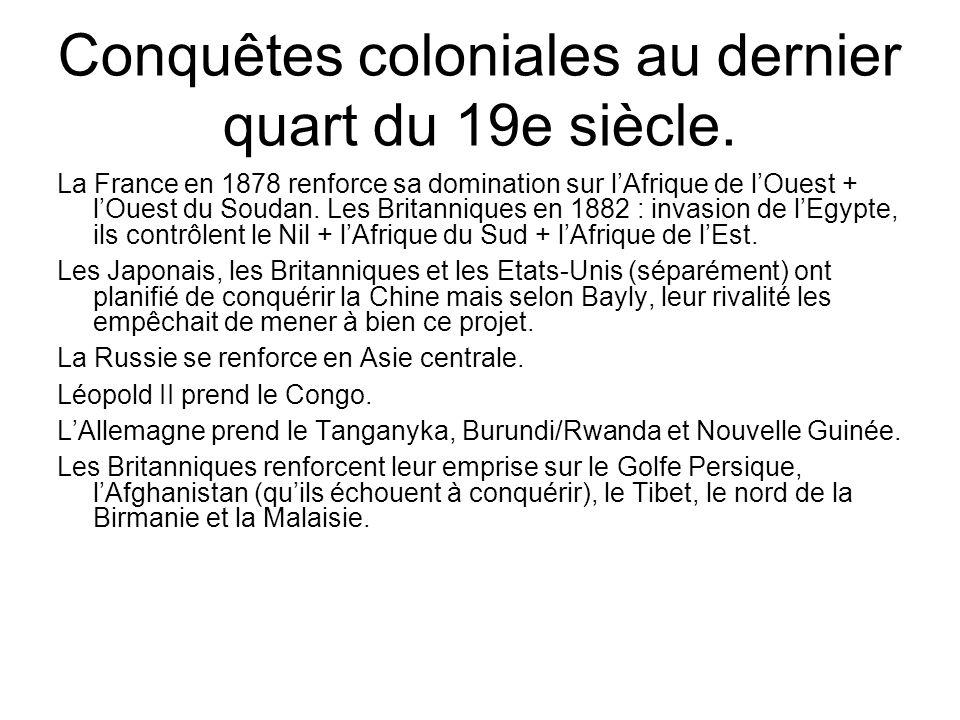 Résistance des régimes locaux Bayly montre (p.421 et 427) quen Egypte, au Soudan (p.