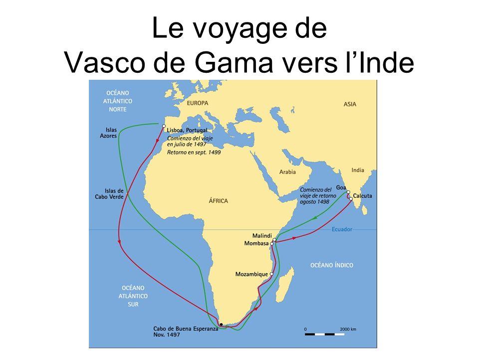 Après un premier voyage vers lInde réalisé avec succès en 1497- 1499, Vasco de Gama est envoyé une nouvelle fois en mission par la couronne portugaise vers ce pays avec une flotte de vingt navires.