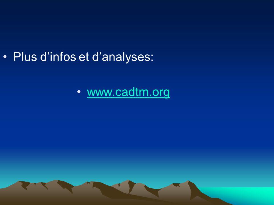 Plus dinfos et danalyses: www.cadtm.org