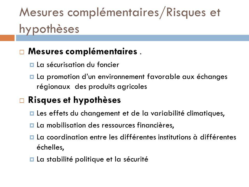 Mesures complémentaires/Risques et hypothèses Mesures complémentaires.