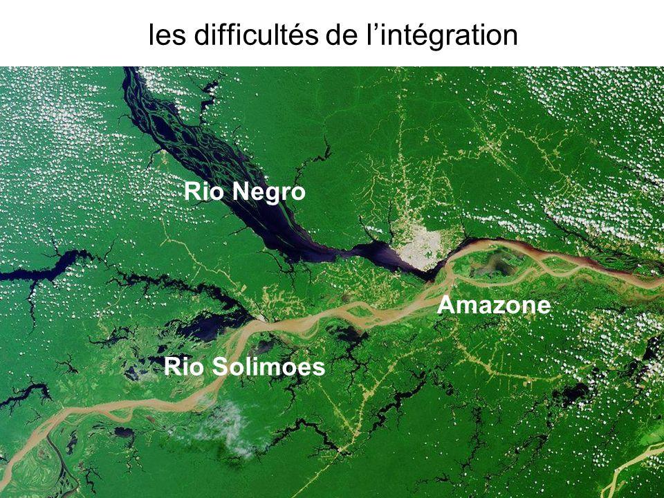 Christian Brodhag – DIDD France - www.brodhag.org les difficultés de lintégration Amazone Rio Negro Rio Solimoes