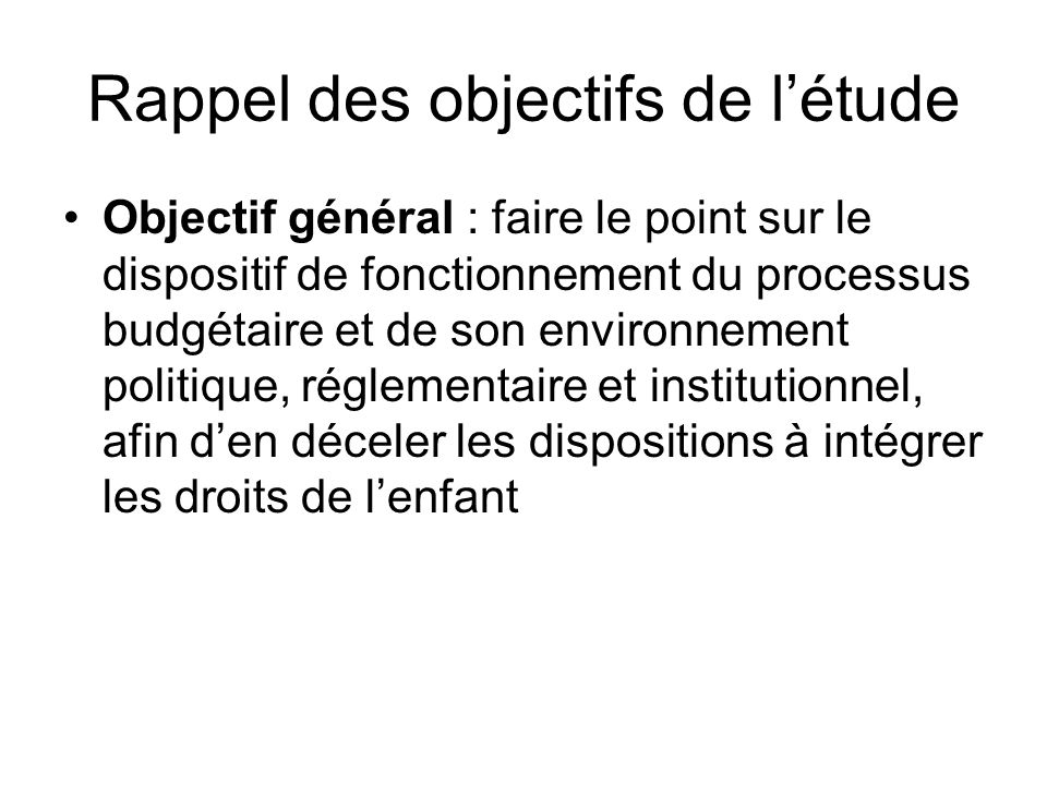 Le renforcement du processus de réforme de ladministration, notamment à travers les processus de décentralisation/déconcentration ; ladoption et la mi
