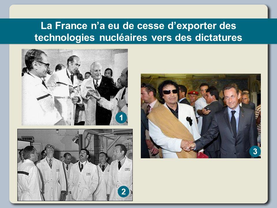 La France na eu de cesse dexporter des technologies nucléaires vers des dictatures 1 2 3