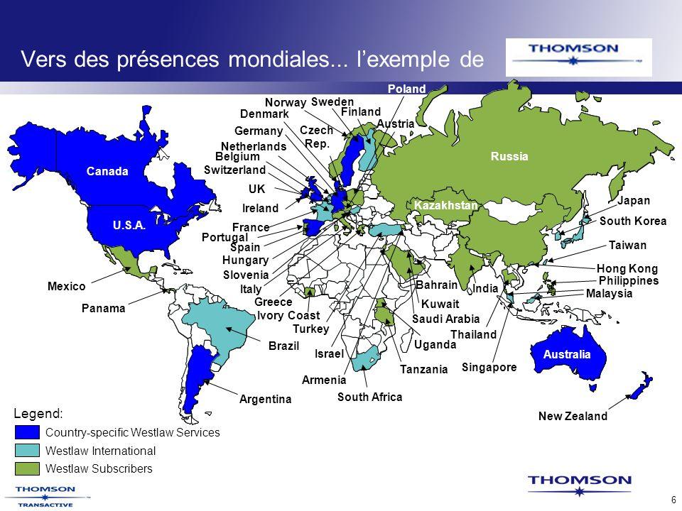 TLR Confidential 6 Vers des présences mondiales...