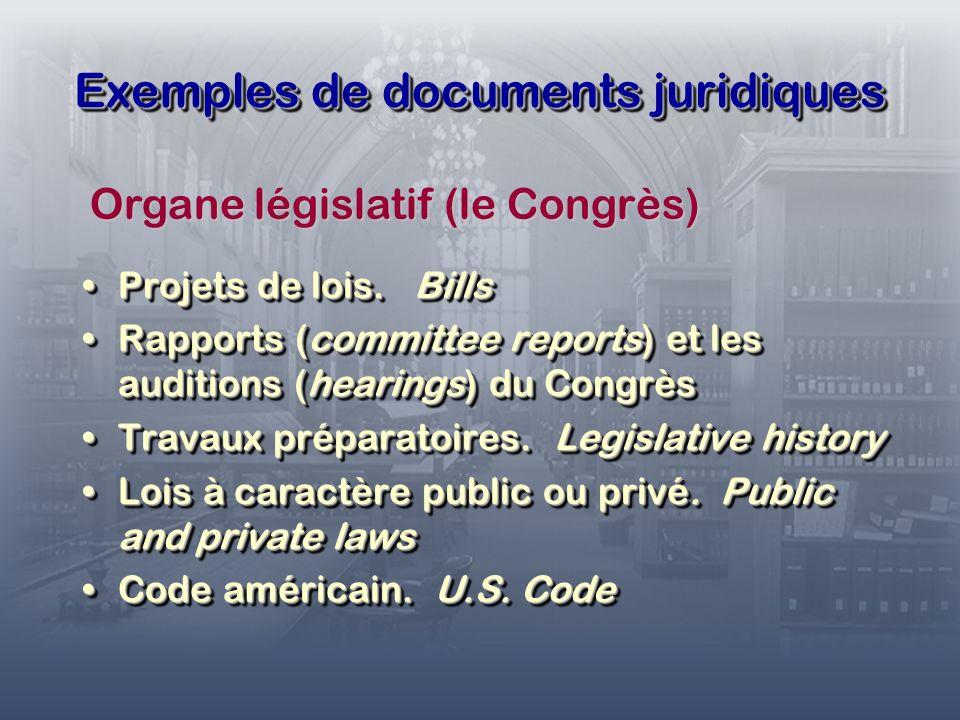 Exemples de documents juridiques Projets de lois. BillsProjets de lois.