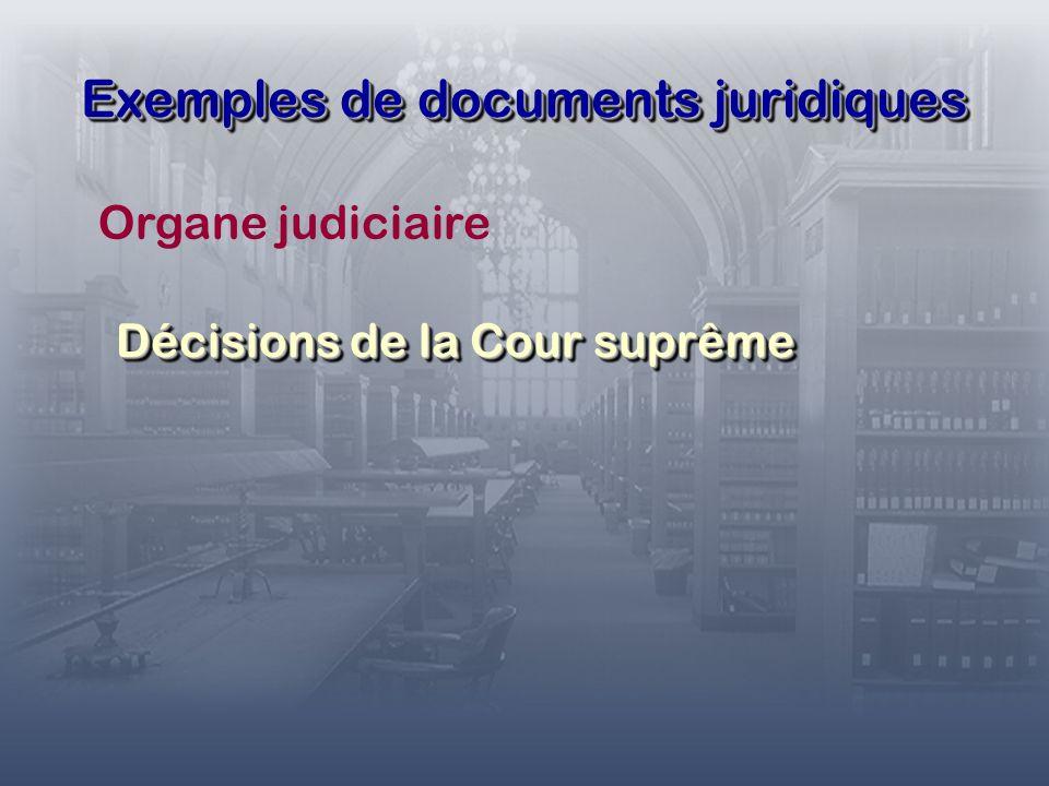 Exemples de documents juridiques Registre fédéral.