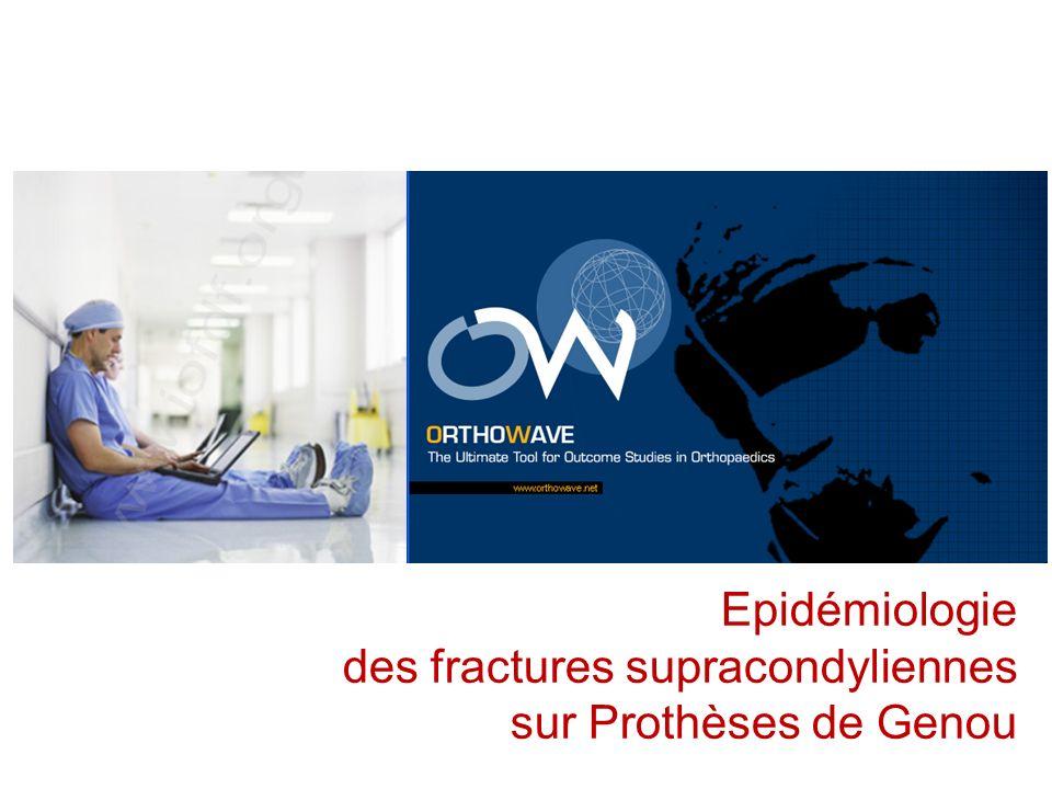 Epidémiologie des fractures supracondyliennes sur Prothèses de Genou