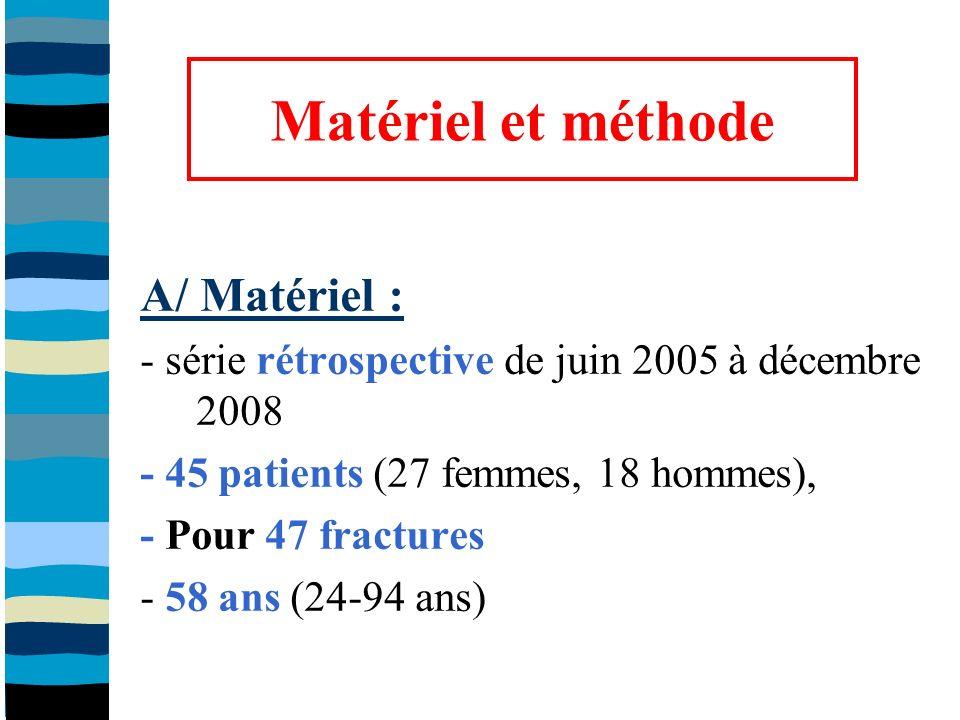 La littérature : - résultats satisfaisants : cliniques et radiologiques Kolb et al (J Trauma, 2008); Kanabar et al (J Orthop Surg, 2007); Kayali et al (J Orthop Sci, 2007); Wong et al (Int Orthop, 2005); Schatz et al (Arch Orthop Trauma Surg, 2005); Kregor et al (JOT, 2004); Weight et Collinge (JOT, 2004); Ricci et al (Am J Orthop,2004); Syed et al (Injury, 2004) Smith et al, Injury, 2009 - méta analyse Smith et al, Injury, 2009 (694 Fr) = Système LISS efficace et adapté Mais - perte de réduction : 19% (134 cas) différent - retard/pseud : 6% (40 cas) équivalent - faillite dimplant : 5% (38 cas) équivalent