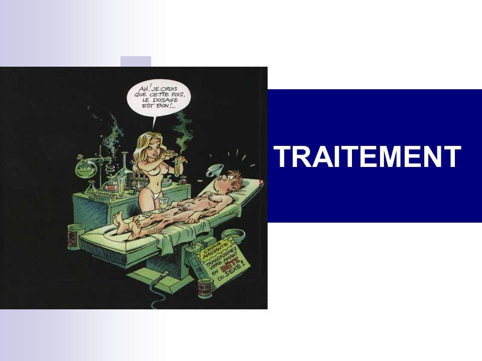 CAUSES PERSONNELLES CRAINTE DE CONTRE PERFORMANCE Autorisation dêtre Soi Affirmation de soi CRAINTE DENFREINDRE UN INTERDIT CULTUREL, SOCIAL OU RELIGIEUX Les croyances (cognitions) peuvent être travaillées par des thérapies cognitives ou par une psychothérapie analytique CRAINTE DES CONSÉQUENCES Grossesse : info, TCC, thérapie de couple MST, SIDA : info, TCC, thérapie de couple De représailles pour une « pensée magique » de lenfance : « plus jamais je ne me toucherai, et … papa reviendra, maman guérira, mon petit frère ne sera plus handicapé » = psychothérapie analytique.