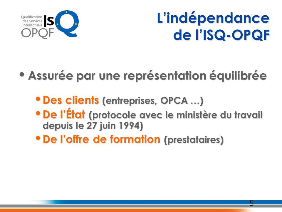 5 Assurée par une représentation équilibrée Assurée par une représentation équilibrée Des clients (entreprises, OPCA …) Des clients (entreprises, OPCA