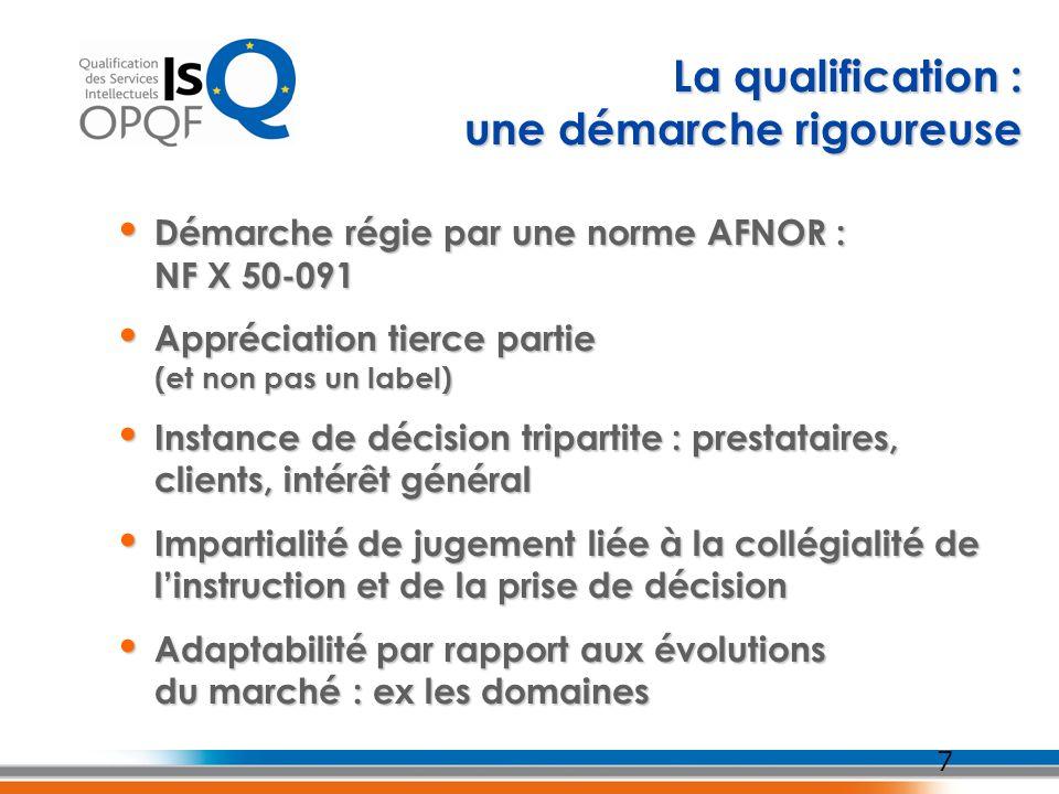 7 Démarche régie par une norme AFNOR : NF X 50-091 Démarche régie par une norme AFNOR : NF X 50-091 Appréciation tierce partie (et non pas un label) A