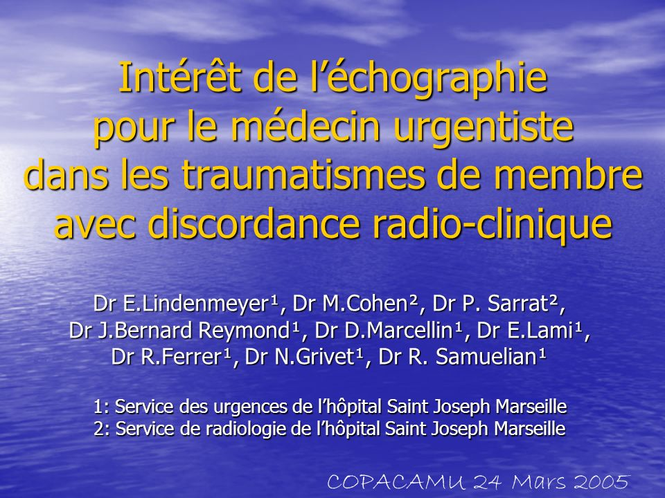 Léchographie ostéo-articulaire a prouvé sa contributivité dans le diagnostic de certaines lésions radiographiquement occultes (Sonography compared with radiography in revealing acut rib fracture Griffit JF & Coll AJR 1999 ;173: 1603-9 Occult fratures of the waist of the scaphoid: early diagnosis by high spatial resolution sonography.