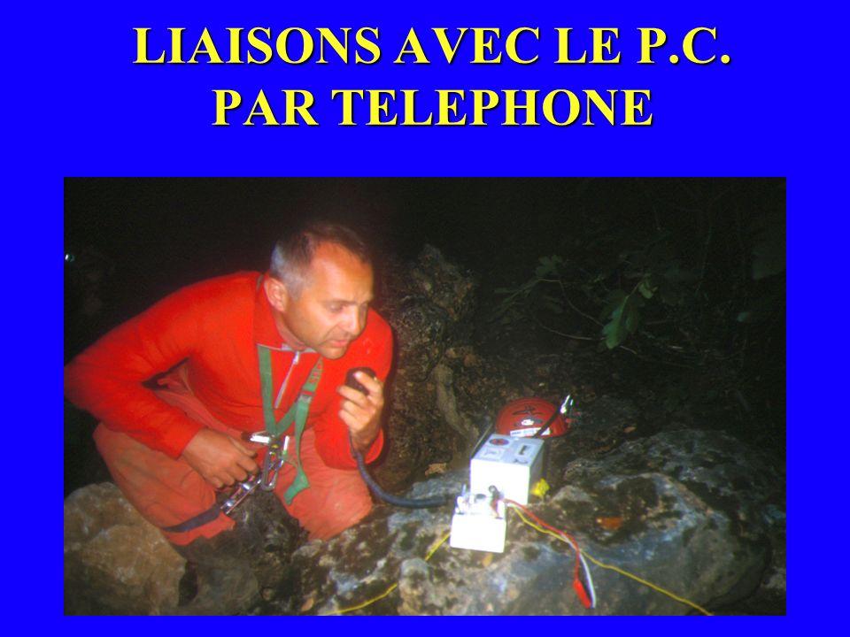 LIAISONS AVEC LE P.C. PAR TELEPHONE