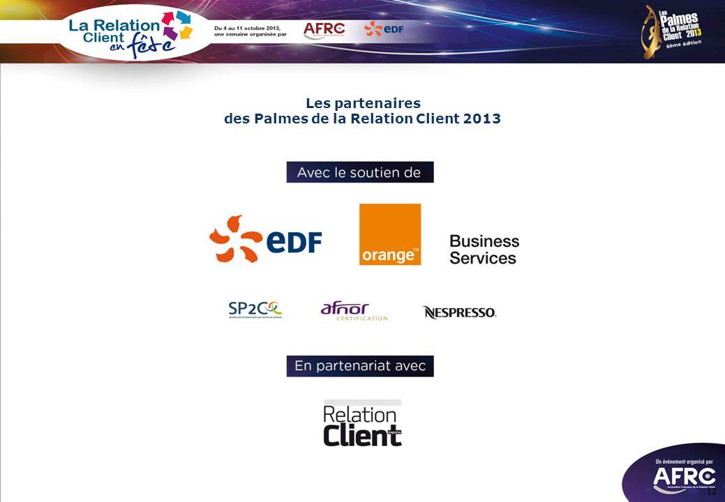 Les partenaires des Palmes de la Relation Client 2013 12