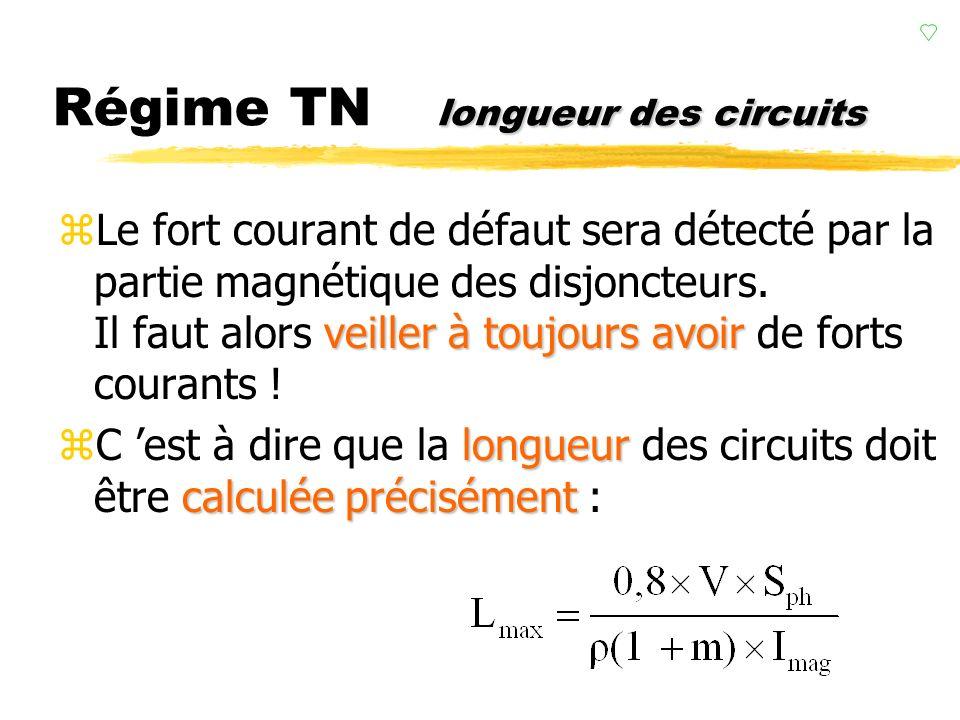 résistances Régime TN résistances (réactances négligées si S<120 mm²). zPour simplifier, on ne considère que les résistances (réactances négligées si