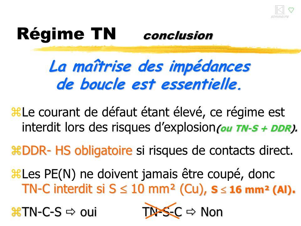 conditions Régime TN conditions magnétique zEn TN, la sécurité des personnes est assurée par la partie magnétique des disjoncteurs !! toujours veiller