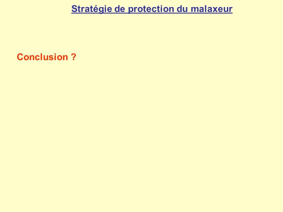 Stratégie de protection du malaxeur Conclusion ?