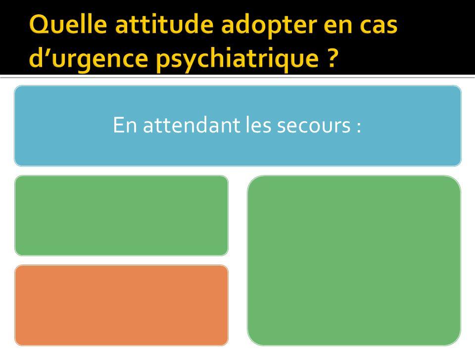 118 000 passages aux Urgences / an.Dont 7 à 10% durgences psychiatriques.