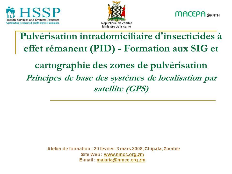 Pulvérisation intradomiciliaire d'insecticides à effet rémanent (PID) - Formation aux SIG et cartographie des zones de pulvérisation Principes de base
