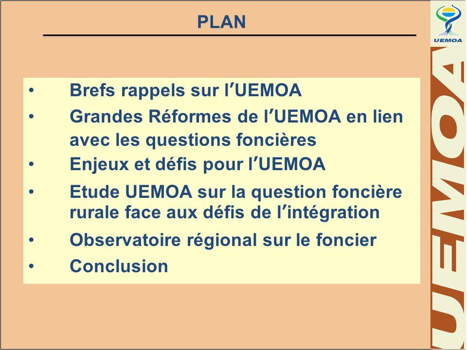 POURQUOI UNE ETUDE SUR LE FONCIER RURAL 1.