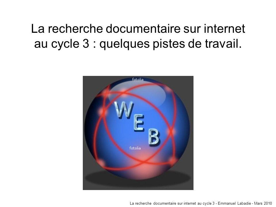 4 a -Recherche documentaire sur internet: outils et pratiques.