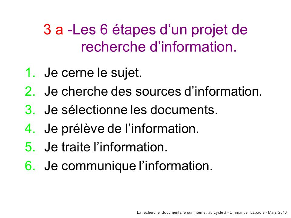 3 b -Le contenu du site Le contenu Quel est le but de ce site .