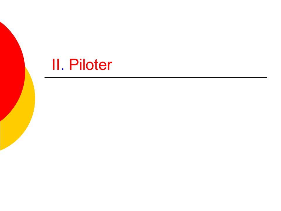 II. Piloter
