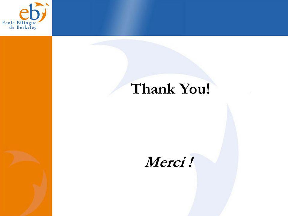 Thank You! Merci !