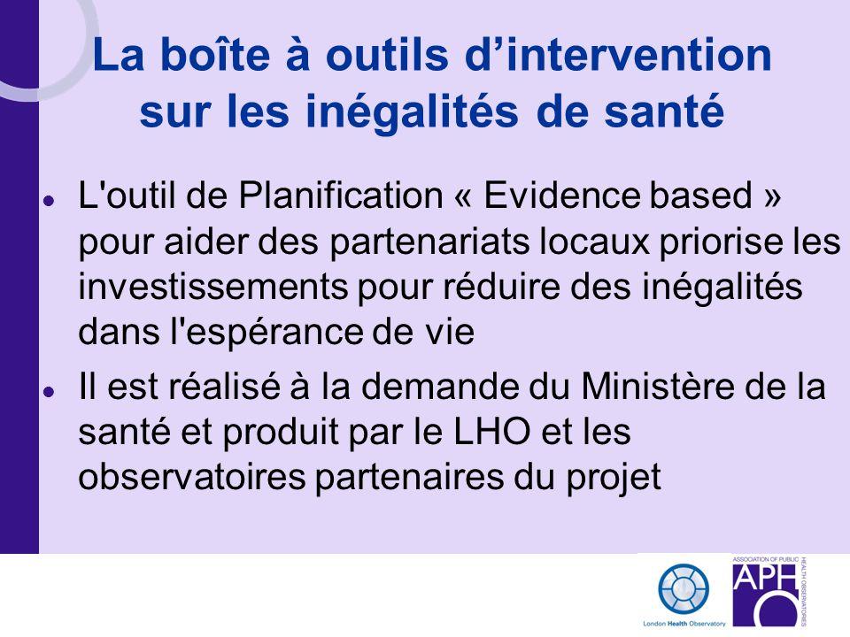 La boîte à outils dintervention sur les inégalités de santé L'outil de Planification « Evidence based » pour aider des partenariats locaux priorise le