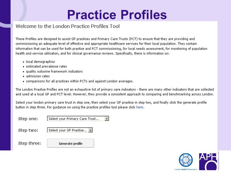 Practice Profiles
