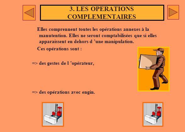 2. LES OPERATIONS DE DEPLACEMENT Elles comprennent les déplacements d un opérateur, avec ou sans engin, d un point à un autre. Les déplacemnts se cara