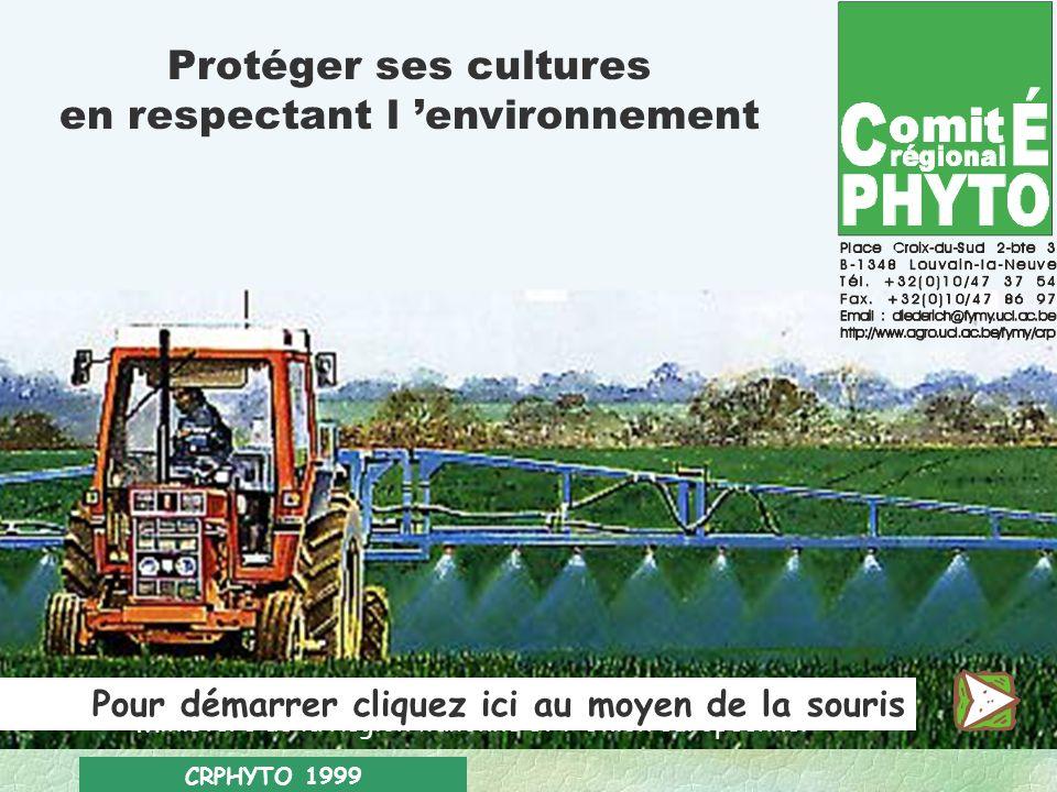 CRPHYTO 1999 Protéger ses cultures en respectant l environnement Une initiative financée par la Direction générale de l agriculture du Ministère de la Région wallonne et l Union européenne.