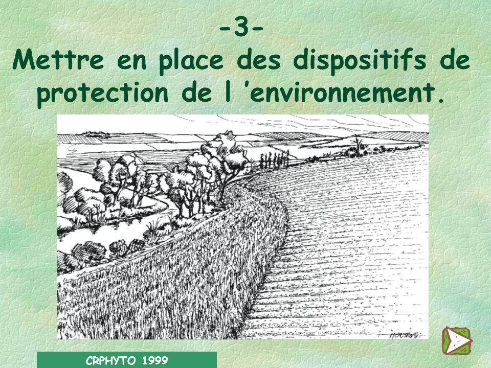 CRPHYTO 1999 En fin de traitement : l Ne verser en aucun cas les eaux de rinçage ou les fonds de cuve à légout ou dans un cours d eau. l Sil subsiste