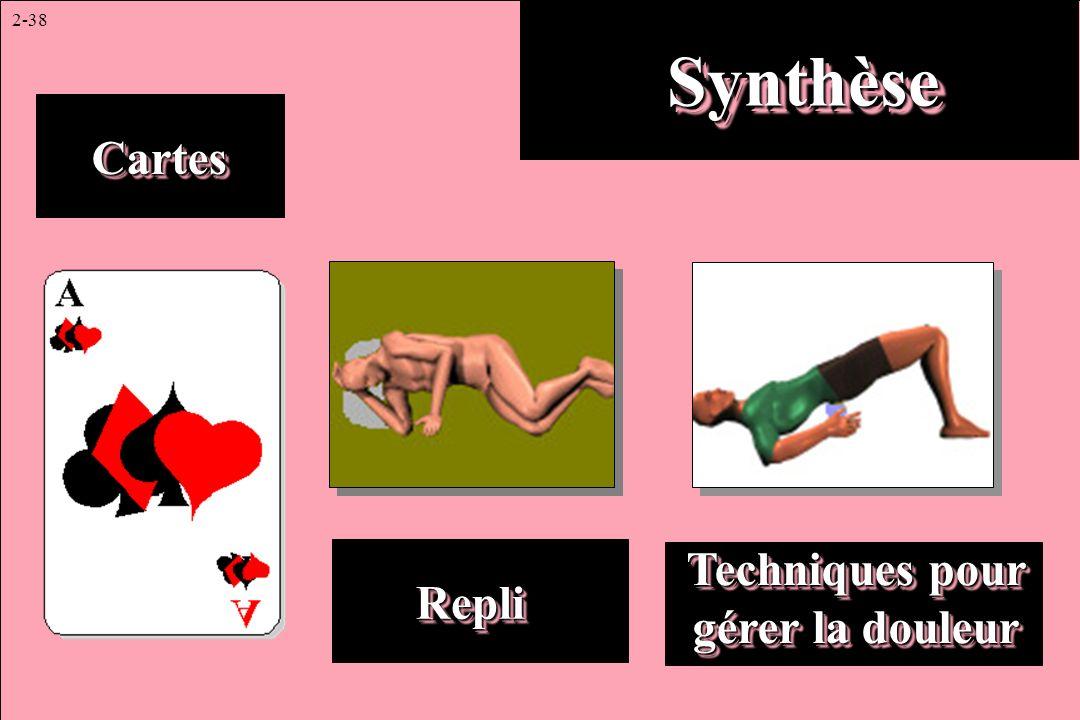 2-38 SynthèseSynthèse CartesCartes RepliRepli Techniques pour gérer la douleur