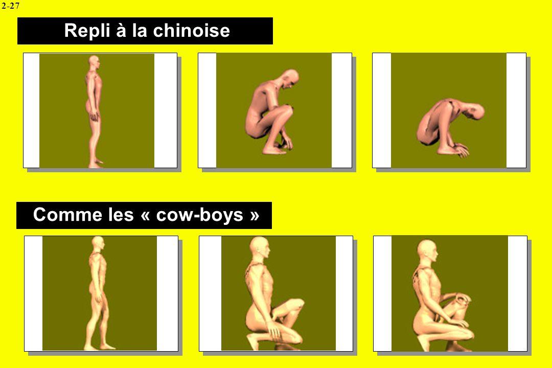 Repli à la chinoise Comme les « cow-boys » 2-27