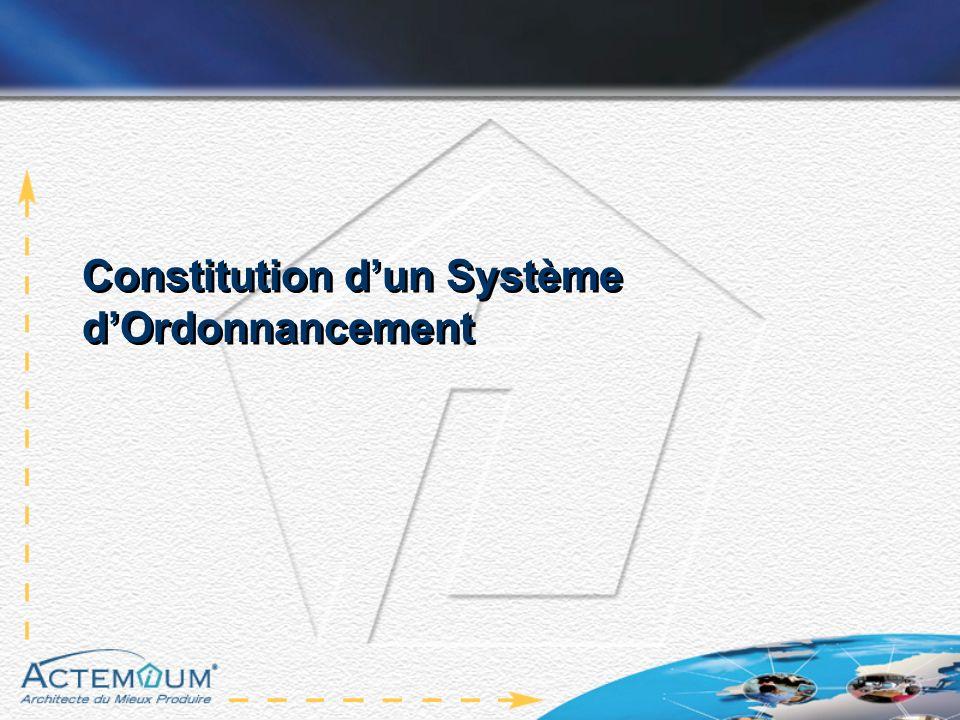 Constitution dun Système dOrdonnancement