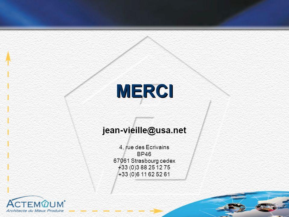 MERCI jean-vieille@usa.net 4, rue des Ecrivains BP46 67061 Strasbourg cedex +33 (0)3 88 25 12 75 +33 (0)6 11 62 52 61