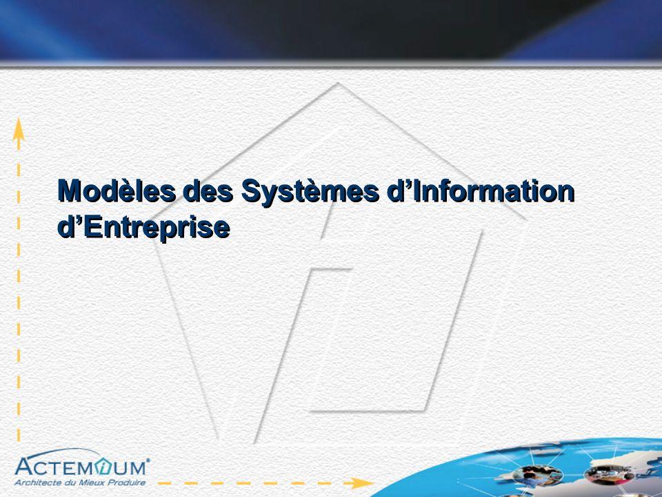 Modèles des Systèmes dInformation dEntreprise