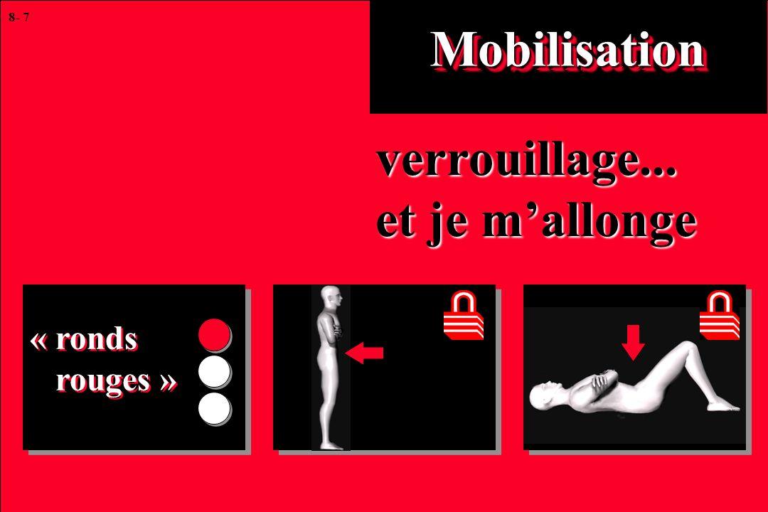 8- 7 MobilisationMobilisation verrouillage... et je mallonge « ronds rouges » « ronds rouges »