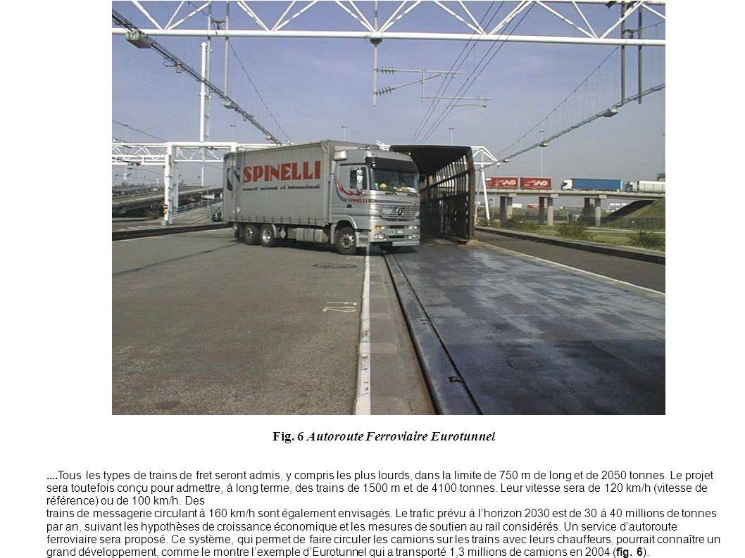 ....Tous les types de trains de fret seront admis, y compris les plus lourds, dans la limite de 750 m de long et de 2050 tonnes. Le projet sera toutef