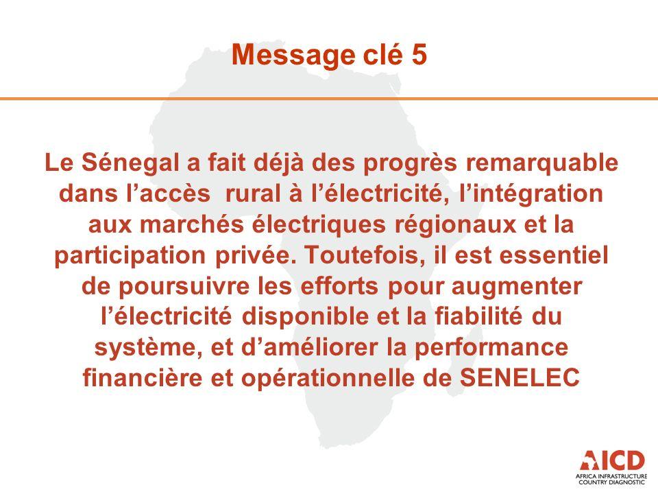 Le Sénegal a fait déjà des progrès remarquable dans laccès rural à lélectricité, lintégration aux marchés électriques régionaux et la participation privée.