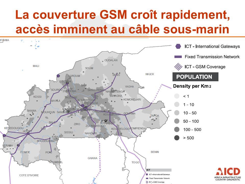 La couverture GSM croît rapidement, accès imminent au câble sous-marin