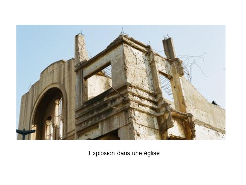 Explosion dans une église