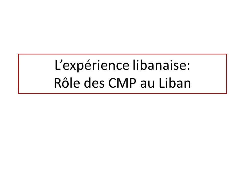 Lexpérience libanaise: Rôle des CMP au Liban