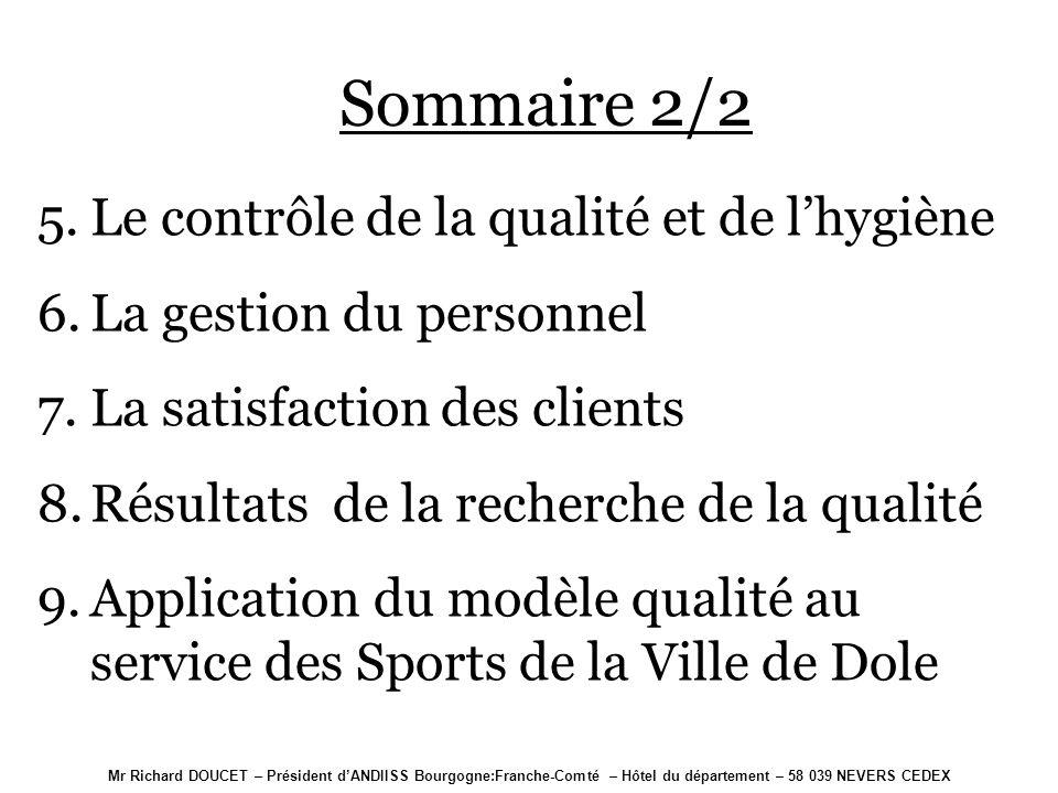 Mr Richard DOUCET – Président dANDIISS Bourgogne:Franche-Comté – Hôtel du département – 58 039 NEVERS CEDEX SYSTEME DE MANAGEMENT DE LA QUALITE