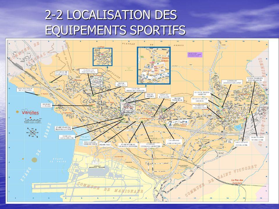 23 2-2 LOCALISATION DES EQUIPEMENTS SPORTIFS
