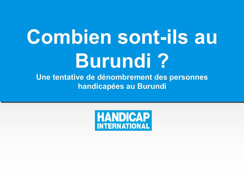 Combien sont-ils au Burundi ? Une tentative de dénombrement des personnes handicapées au Burundi